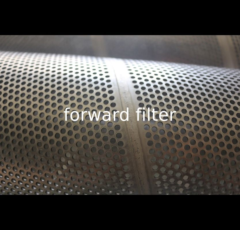 Surface Polished Perforated Metal Tube , 316L 409 Perforated Round Tubing